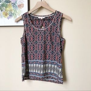 Skies Are Blue Boho Print Tank Top Size XSP